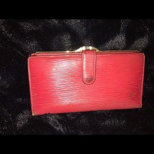 Louis Vuitton long epi wallet Authentic